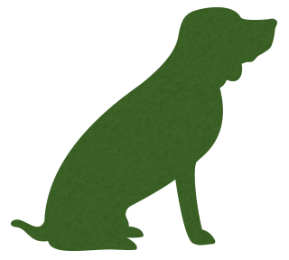 Sitting dog silhouette